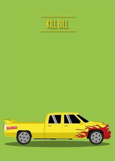 Kill Bill: Vol. 1 (2003) ~ Minimal Movie Poster by David Peacock #amusementphile