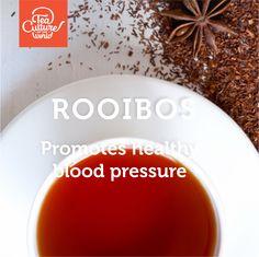 Rooibos promotes healthy blood pressure.