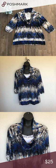 0bb8091f1c3d8b Bobbie Brooks 3x Sweater [Bobbie Brooks] Blue Snake Print 3x Sweater.  Sweater has