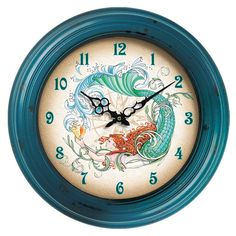Mermaid Wall Clock..cute!