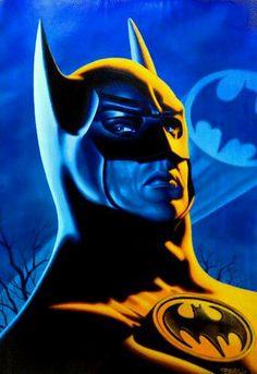 Michael Keaton as Batman Batgirl And Robin, Batman And Batgirl, Batman Comic Art, Marvel Dc Comics, Batman Returns, Dc Heroes, Comic Book Heroes, Bob Kane, Catwoman Michelle