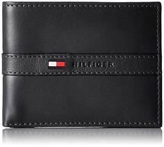 03dfeabdf Tommy Hilfiger Men's Leather Passcase & Valet Billfold Black Tommy Wallet  Couro, Carteira, Figurino