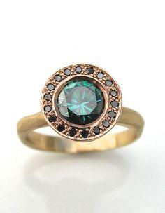 emerald handmade engagement ring