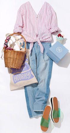 パステルストライプのコットンリネンシャツでロコガール風に! ルミネが提案中の夏トレンドテーマ「Mixture Craft」。その着こなしの中心となる天然素材を、この夏らしく取り入れるテクニックを人気スタイリス田沼智美さんがレッスン!