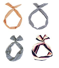 Set of 4 Multi Function Wired Twist Bow Hair Band Women Girls Bowknot Headband >>> You can get additional details at the image link.