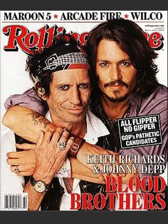 Two of my favourite people right here, Keith Richards and Johnny Depp. I loved hearing that Johnny based his Jack Sparrow character on Keith, the original rock & roll pirate :)