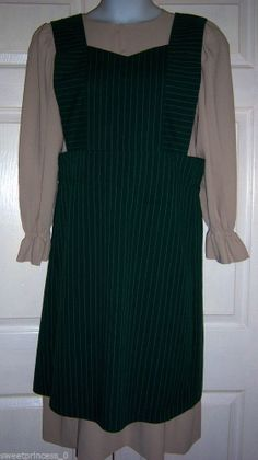 "Sold Amish Dress Handmade Modest Dress & Full Apron 38""B 36""W Pa. Amish Clothing"