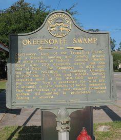Okefenokee Swamp Marker  Folkston, GA  by POsrUs, via Flickr