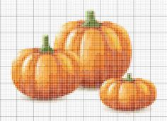 Cross Stitch Patterns | Pumpkins Cross-Stitch Pattern - Creative Mind and Hands