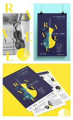 Branding Festival Ravel Creation of the visual identity and communication media for the event by Oréalys.