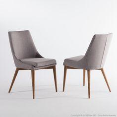 chaise contemporaine / avec accoudoirs / tapissée / en tissu aston ... - Chaise Pied En Bois