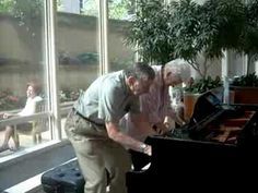 This couple walked into a clinic for a checkup and spotted a piano… They've been married for 62 years! CUTEST THING EVER.