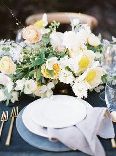 Photography : Kyle John Photography | Venue : Marquette MI | Event Design : Kelly Lenard | Floral Design : Kelly Lenard Read More on SMP: http://www.stylemepretty.com/2015/12/29/organic-black-rocks-beach-wedding-inspiration/
