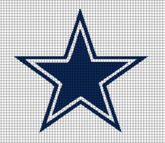 Dallas Cowboys Crochet Graphghan Pattern (Chart/Graph AND Row-by-Row Written Instructions)