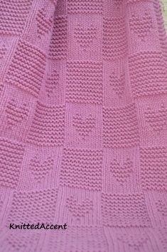 Knitting Patterns Baby Blanket PATTERN written instructions with diagram.Ravelry: Baby pattern by Žana DaniūnienėThis is a lovely twist on my heart blanket, now with even more love!This pattern will require knitting needles and Aran/Worsted weight Wool Baby Blanket, Free Baby Blanket Patterns, Knitted Baby Blankets, Afghan Patterns, Crochet Blanket Patterns, Baby Patterns, Baby Knitting Patterns Free Newborn, Knitted Heart, Easy Knitting