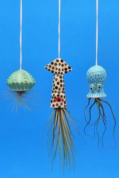 Ceramic air plant holder by Cindy Searles #airplants #ceramics