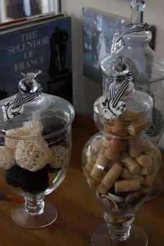definitely wine corks! Apothecary Jars