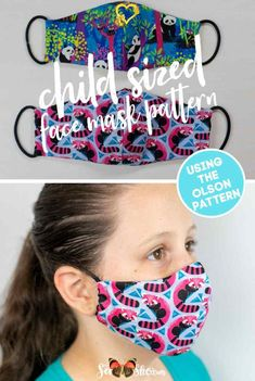 Simple Step By Step Tutorial for the Olson Face Mask Pattern - including child sizes — SewCanShe | Free Sewing Patterns and Tutorials  <br> The Olson Mask Pattern was designed by medical professionals to be used when other surgical and N95 masks are not available. Most agree that it is the best pattern available for homemade face masks, and I think so too! It is curved to fit the nose and mouth area, and there is a pocket on the inside Face Masks For Kids, Easy Face Masks, Diy Face Mask, Face Mask For Pimples, Sewing Hacks, Sewing Tutorials, Sewing Projects, Sewing Tips, Tutorial Sewing