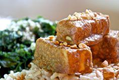 Baked Peanut Tofu Vegetarian Recepies, Tofu Recipes, Cooking Recipes, Healthy Recipes, Vegan Meat Substitutes, Vegan Foods, No Cook Meals, Yummy Food, Kitchens
