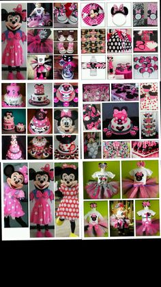 Minnie Mouse party cakes