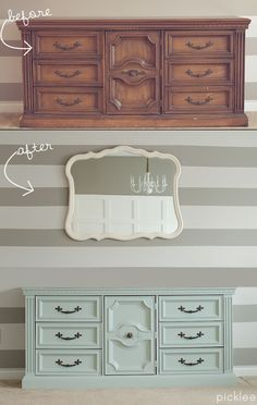 Color Inspirition for Courtney dresser--->Winter Mint Buffet Before & After [your pick] | Picklee
