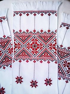 Folk Embroidery Ukrainian hand embroidered towel Slavic traditional cross stitch embroidery Red purple table runner Ethnic home decor Folk art wedding gift Hungarian Embroidery, Folk Embroidery, Learn Embroidery, Palestinian Embroidery, Cross Stitch Embroidery, Embroidery Patterns, Cross Stitch Patterns, Swedish Weaving Patterns, Embroidered Towels