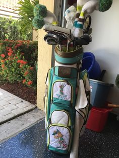 Jazzed up my golf bag with some appliqués!