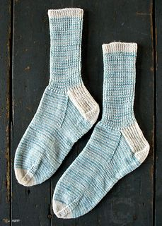 Striped Crew Sock by Purl Soho, knit in Anzula Squishy.