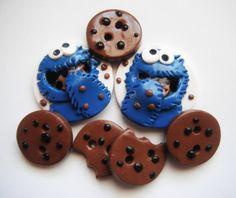 Schaltfläche Cookies Polymer Ton Knöpfe (7)