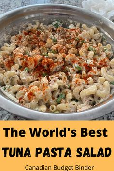 I can't tell you how many bowls of Tuna Pasta Salad Mrs. CBB and I made before we got married and thereafter. I think we've pretty much nailed The World's Best Tuna Recipe. It's easy, inexpensive you can stretch it with other meals or have it as a meal. What do you like in your tuna pasta salad?