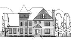 Queen Anne House Plan with 3695 Square Feet and 4 Bedrooms from Dream Home Source | House Plan Code DHSW73179