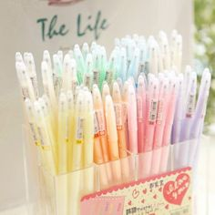 Free shipping korean candy colors Dreamy pastels pen 7 color Watercolor pen 35 pcs/lot-in Gel Pens from Office School Supplies on Aliexpress.com $18.00 Stationary Supplies, Stationary School, Cute Stationary, Art Supplies, Tumblr School, Cute Pens, Kawaii Stationery, Pen And Watercolor, Office And School Supplies