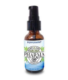 Hemp Health 100 mg CBD Oral Spray Peppermint Vegan Non GMO & Naturally Grown