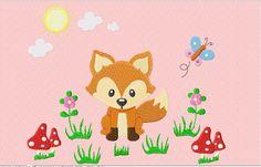 Stickmuster - kleiner Fuchs - Stickdatei - ein Designerstück von sterntaler bei DaWanda