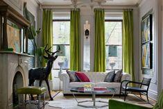 fenstergardinen Wohntrends 2014-Farben ideen-vorhang grün