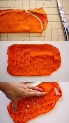 Upcycled T-shirt= Easy Knit Produce Bag - delia creates