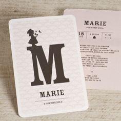 Roze letterkaart