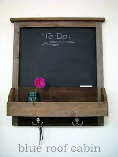 DIY Rustic Wood Message Center