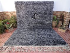 beni ourain,azilal,boucharouite,morocco/wedding blanket by moroccowool Berber Carpet, Berber Rug, Parlor Room, Beni Ourain, Shades Of Black, Moroccan, Black And White, Wool, The Originals