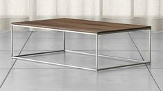 Crate & Barrel's Frame Medium Coffee Table. I've never had a real crush on a table until now. Quick, someone find me $599.