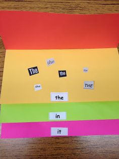 I like this flip book. Find sight words in magazines and other real contexts and paste on corresponding page.