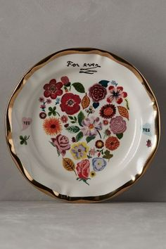 Francophile dinner plate #anthroregistry