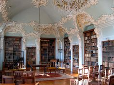 The most magical library! It looks like it is out of a fairy tale...