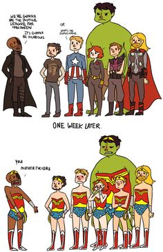 I like how this is such a diss on the Justice League. XD no one knows anyone but Wonder Woman!
