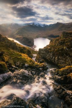 """View on Haweswater - The Lake District looks great from the shores of its lakes, but it looks even better from the top of the mountains. It was quite a sharp hike to reach this stream of water, not the easiest position for taking photographs :) Follow me on <a href=""""https://www.facebook.com/AlessioAndreaniPhotography"""">Facebook</a> Visit my <a href=""""http://alessioandreani.com/"""">Website</a>"""