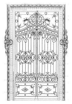 LaBlanche - Foam Mounted Silicone Stamp - Wrought Iron Door at Scrapbook.com $10.49