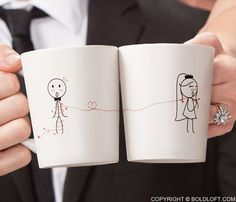 Tie the Knot™ His and Hers Coffee Mugs,Wedding Gifts for Couple,Bride and Groom Gifts,Wedding Coffee Mugs,Mr and Mrs Coffee Mugs,Bride Gifts