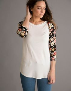 95 Best Floral Baseball Tees images  dab1e1fc9