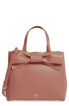 Trendy Women's Bags : Picture Description olive drive brigette leather satchel by Kate Spade New York. An oversized bow adds vintage cosmopolitan charm to a lightly structured satchel in buttery-soft pebbled leather. Fashion Handbags, Tote Handbags, Purses And Handbags, Fashion Bags, Leather Handbags, Luxury Handbags, Cheap Handbags, Leather Purses, Kate Spade Handbags
