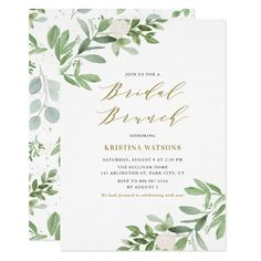 Home Interior White Watercolor Greenery and Flowers Bridal Shower Invitation.Home Interior White Watercolor Greenery and Flowers Bridal Shower Invitation Bridal Luncheon Invitations, First Communion Invitations, Rehearsal Dinner Invitations, Engagement Party Invitations, Elegant Wedding Invitations, Wedding Invitation Cards, Baptism Invitations, Engagement Parties, Rehearsal Dinners